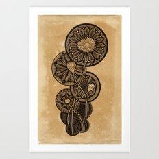 Radial Blooms Art Print
