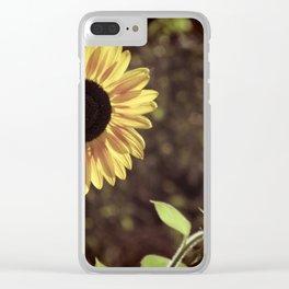 Sunflower Gaze Clear iPhone Case