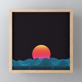 Computer sundown Framed Mini Art Print