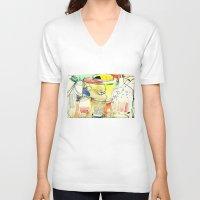 kitchen V-neck T-shirts featuring kitchen by Matteo Lotti