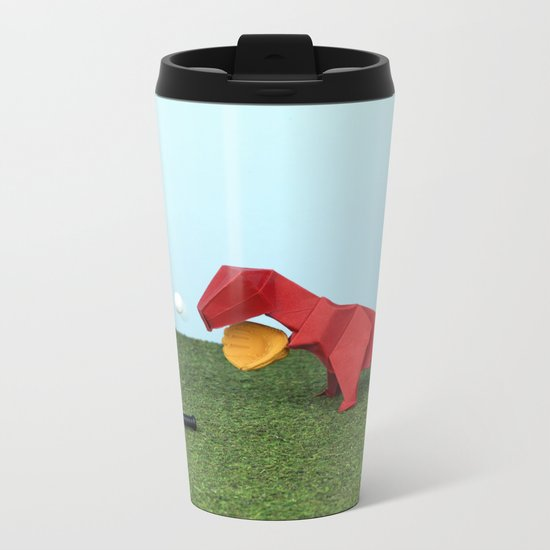 Yes T-Rex can! Metal Travel Mug