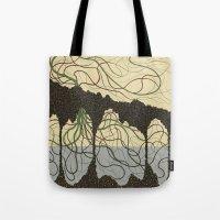 hawaiian Tote Bags featuring first hawaiian by thefleafarm (Amy Wright)