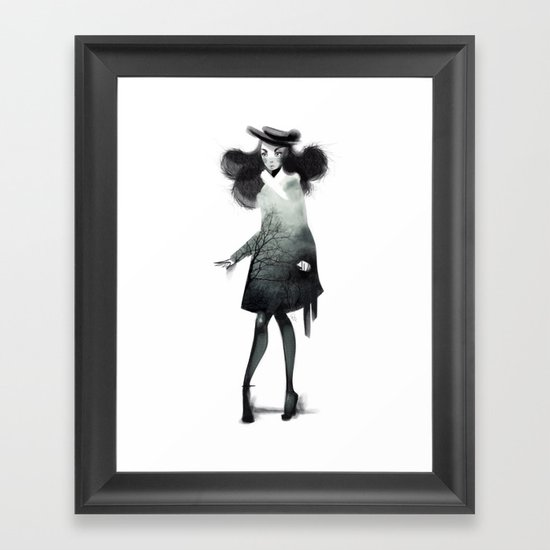 Fashion Doodle Framed Art Print