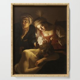 Samson and Delilah - By Gerrit van Honthorst Serving Tray