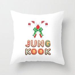 BTS Jungkook: Happy Christmas! Throw Pillow
