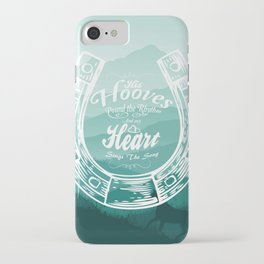 Horse Quote Typography - Horse Hoove Shoe quote - Horse lover iPhone Case