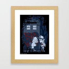 Bad wolf in gravity falls Framed Art Print