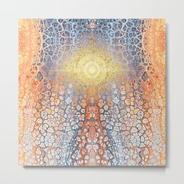 Earth Chakra - Abstract Nature Marble Boho Gold Glitter Pattern Metal Print