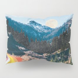 1960's Style Mountain Collage Pillow Sham