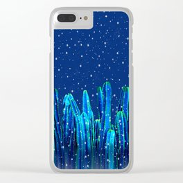 Holidays Cactus In The Snow Clear iPhone Case