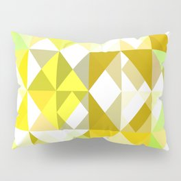 Pale Yellow Poinsettia 1 Abstract Triangles 1 Pillow Sham
