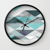 nordic Wall Clocks featuring Nordic Combination 1 X by Mareike Böhmer