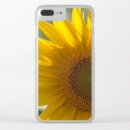 Sunflower (2) Clear iPhone Case