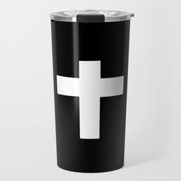 Christian Cross 7- Black and white Travel Mug