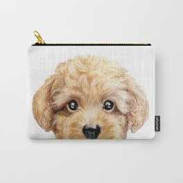 Toy poodle Dog illustration original painting print Carry-All Pouch