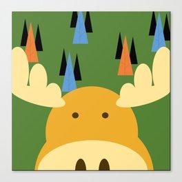 Dark Green Moose Canvas Print