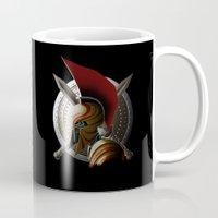 warrior Mugs featuring Warrior by Det Tidkun