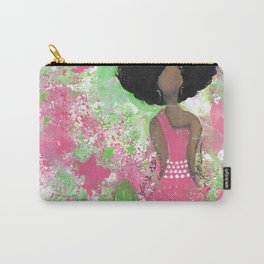 Dripping Pink and Green Angel Carry-All Pouch