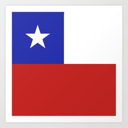 Chile flag emblem Art Print