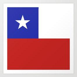 Chile flag emblem Art Print