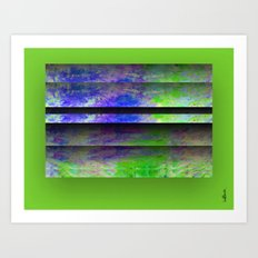 Green Color Blinds Art Print