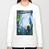 hockey Long Sleeve T-shirts featuring Hockey by Robin Curtiss