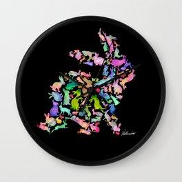 Soul Bunny - Spring Time - Dark Wall Clock