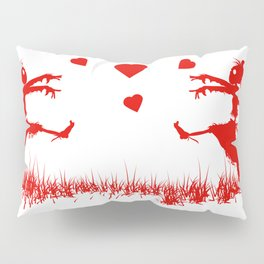 Zombies in Love Red Pillow Sham