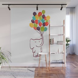 Flying Elephant Wall Mural