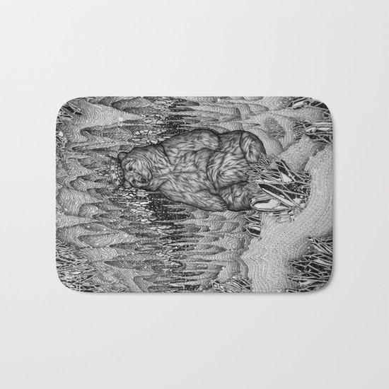 Cave of the Bear King Bath Mat