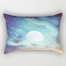 Twin Moons // Moonrise Sky Rectangular Pillow