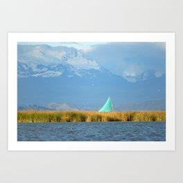 Titicaca sail 1 Art Print