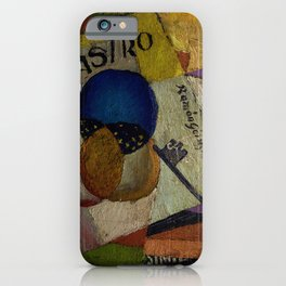 'El Raso,' Diner, Fruit, and Wine Portrait by Diego Rivera iPhone Case