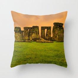 The Standing Stones - Stonehenge Throw Pillow