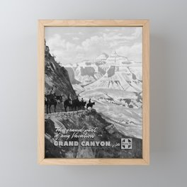 placard Grand Canyon Framed Mini Art Print