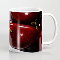 cherry Mugs featuring Cherry by LoRo  Art & Pictures