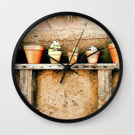 Clay Pots, Goleta California Wall Clock