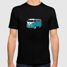 VW Campervan II 2X-LARGE Black Mens Fitted Tee