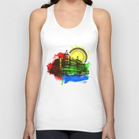 chicago Tank Tops featuring Chicago by Badamg