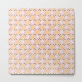 Spring Pastel Pink Daisy Flowers Metal Print