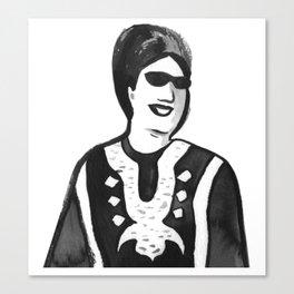 Portrait of Oum Kalsoum Canvas Print