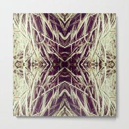 Frosty winter grass Metal Print