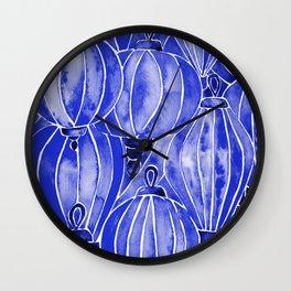 Vietnamese Lanterns – Navy Wall Clock