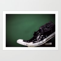 sneakers Art Prints featuring Sneakers  by Nicholas G. Benvenuto