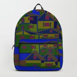 Houses pattern7 Backpack