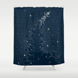Star Inker Shower Curtain