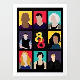 Sense8 Colors Art Print