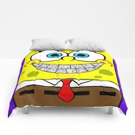 Icey Spongebob With Angry Cheeks Comforters