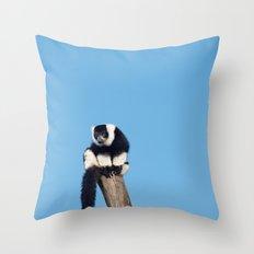 Varecia Variegata III Throw Pillow