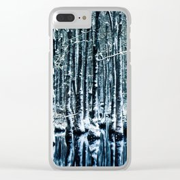 Cypress Swamp Snow Clear iPhone Case